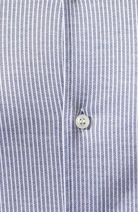 Мужская хлопковая рубашка LORO PIANA синего цвета, арт. FAI4968 | Фото 5