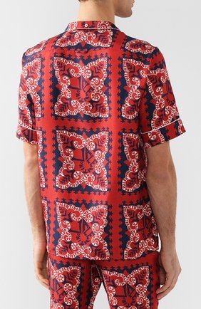 Шелковая рубашка Valentino красная | Фото №4