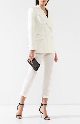 Кожаное портмоне на цепочке Dolce & Gabbana черного цвета | Фото №2