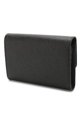 Кожаное портмоне на цепочке Dolce & Gabbana черного цвета | Фото №3