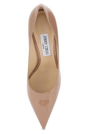 Лаковые туфли Love 85 Jimmy Choo бежевые | Фото №5