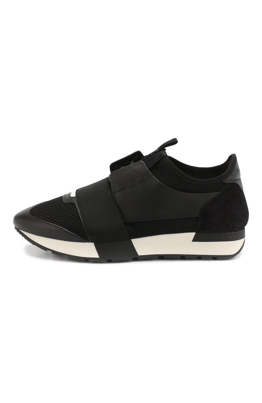 Комбинированные кроссовки Race Balenciaga черные   Фото №3