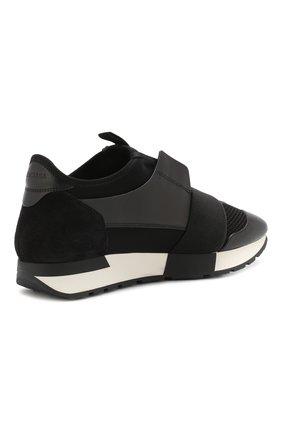 Комбинированные кроссовки Race Balenciaga черные   Фото №4