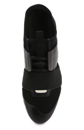 Комбинированные кроссовки Race Balenciaga черные   Фото №5