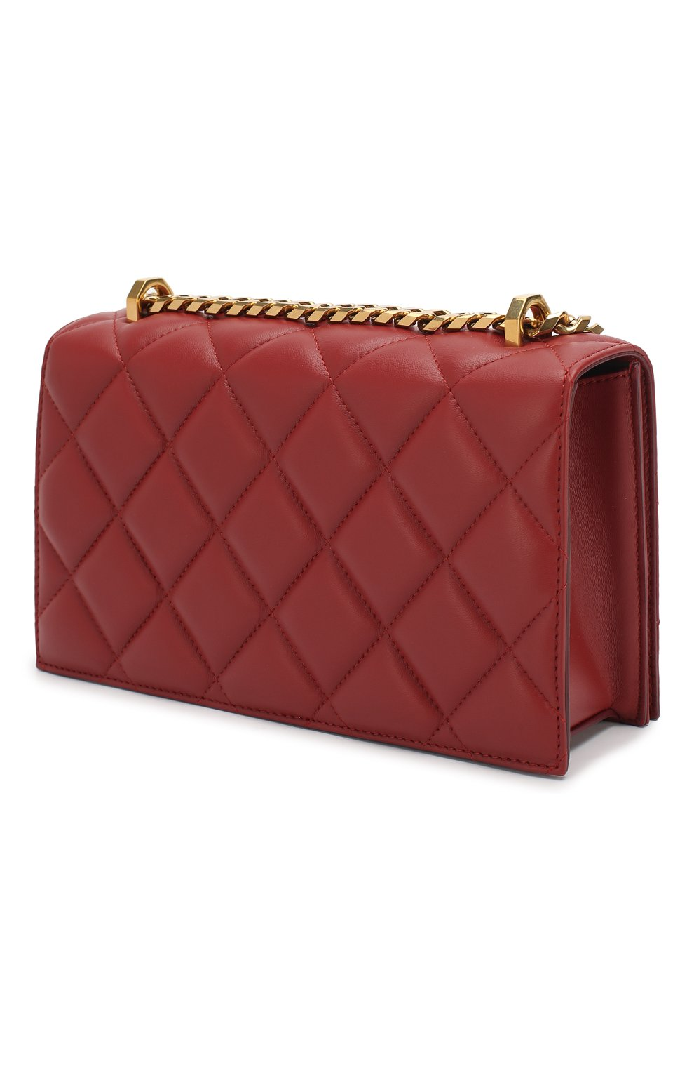 Сумка Jewelled Satchel Alexander McQueen красная цвета   Фото №3