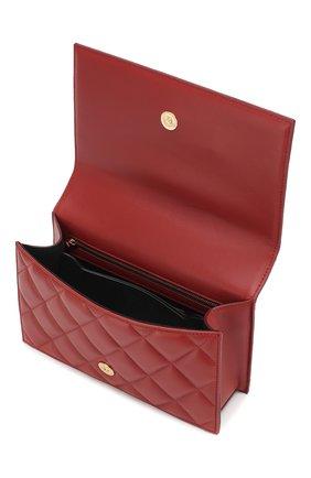 Сумка Jewelled Satchel Alexander McQueen красная цвета   Фото №4