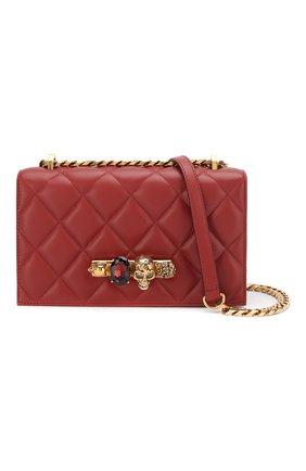 Сумка Jewelled Satchel Alexander McQueen красная цвета   Фото №6