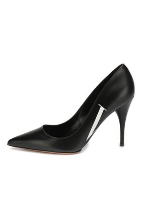 Кожаные туфли Valentino Garavani VLTN | Фото №3
