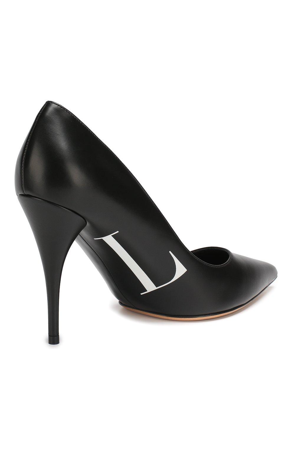 Кожаные туфли Valentino Garavani VLTN   Фото №4
