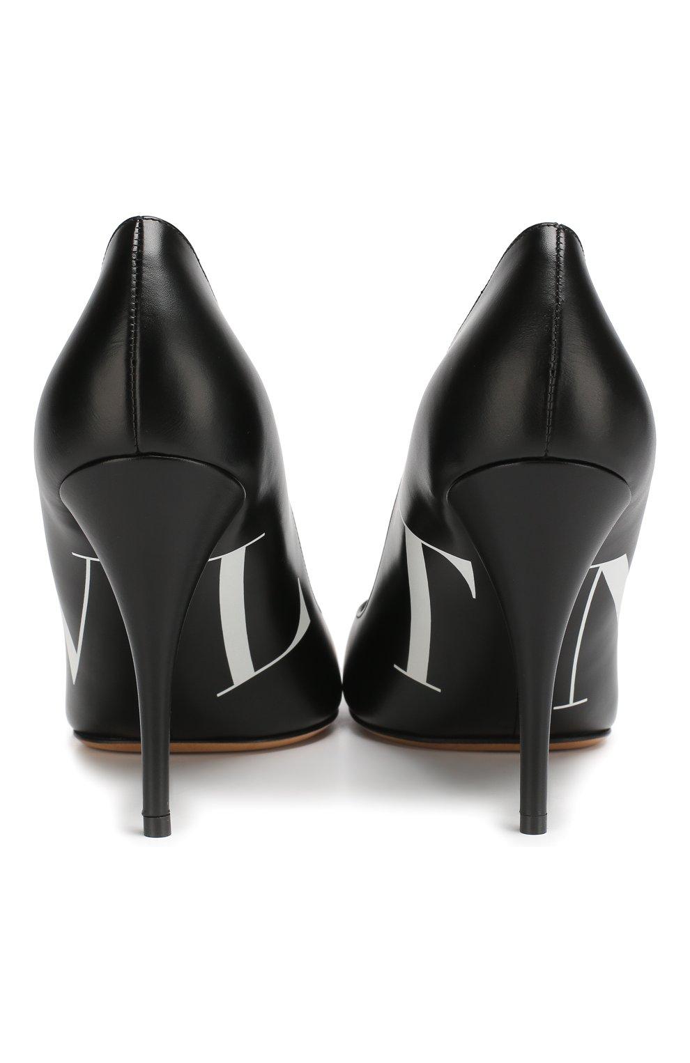 Кожаные туфли Valentino Garavani VLTN   Фото №6