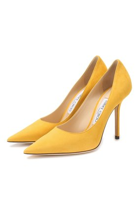 Замшевые туфли Love 100 Jimmy Choo желтые | Фото №1