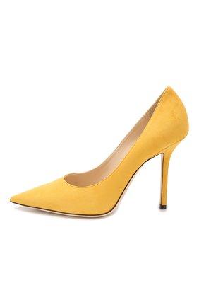 Замшевые туфли Love 100 Jimmy Choo желтые | Фото №3
