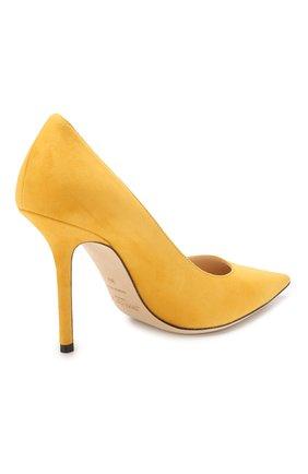 Замшевые туфли Love 100 Jimmy Choo желтые | Фото №4