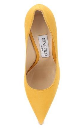 Замшевые туфли Love 100 Jimmy Choo желтые | Фото №5