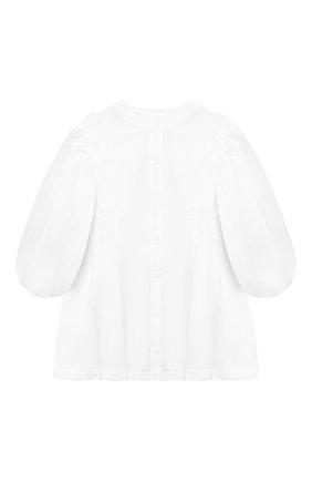Хлопковое платье-рубашка со съемными рукавами   Фото №1