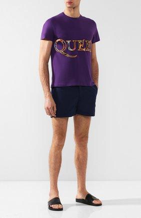 Мужские плавки-шорты  ORLEBAR BROWN темно-синего цвета, арт. 250106 | Фото 2