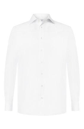 Мужская хлопковая сорочка с воротником кент ZILLI белого цвета, арт. MFR-13037-MERCU/RZ01 | Фото 1