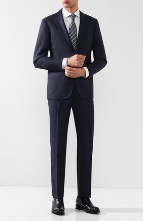 Мужская хлопковая сорочка с воротником кент ZILLI белого цвета, арт. MFR-13037-MERCU/RZ01 | Фото 2