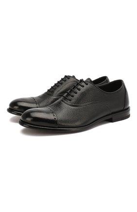 Мужские кожаные оксфорды H`D`S`N BARACCO черного цвета, арт. 69304.1* | Фото 1