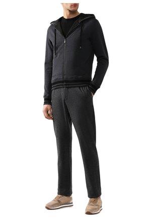 Мужская кардиган из смеси хлопка и шерсти BOTTEGA VENETA темно-серого цвета, арт. 542712/VZZY5 | Фото 2