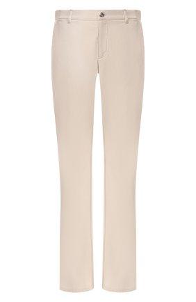 Мужские хлопковые брюки ZILLI бежевого цвета, арт. M0R-D0150-C0LU1/R001 | Фото 1