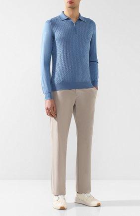 Мужские хлопковые брюки ZILLI бежевого цвета, арт. M0R-D0150-C0LU1/R001 | Фото 2