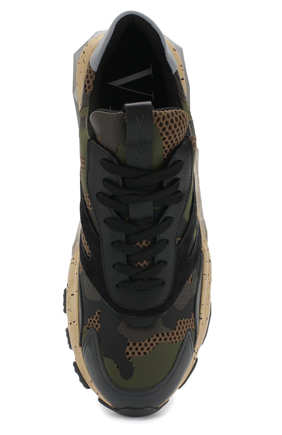 Мужские хаки комбинированные кроссовки valentino garavani bounce ... 5218d77b4d7