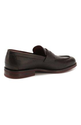 Мужские кожаные пенни-лоферы lp city walk LORO PIANA темно-коричневого цвета, арт. FAI4085 | Фото 4