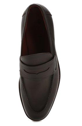 Мужские кожаные пенни-лоферы lp city walk LORO PIANA темно-коричневого цвета, арт. FAI4085 | Фото 5