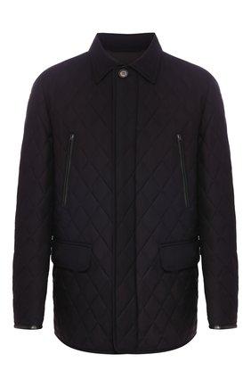 Мужская шелковая куртка BRIONI синего цвета, арт. SFN80L/P843X | Фото 1