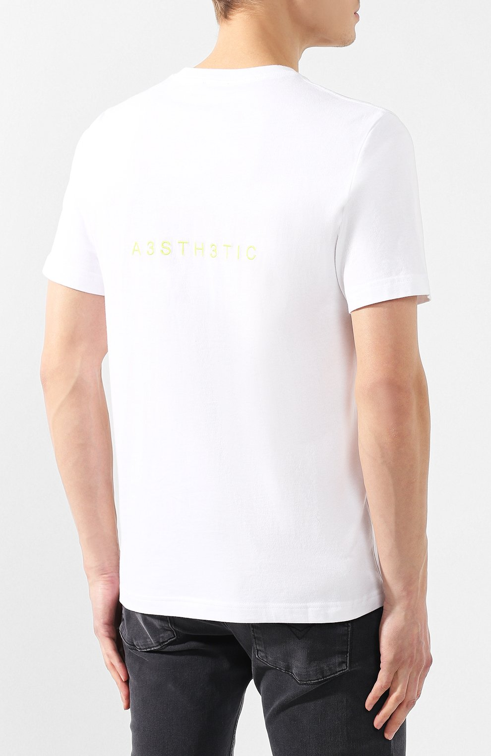 Хлопковая футболка  Diesel белая | Фото №4