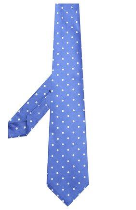 Мужской галстук из смеси шелка и льна KITON синего цвета, арт. UCRVKLC05F54 | Фото 2