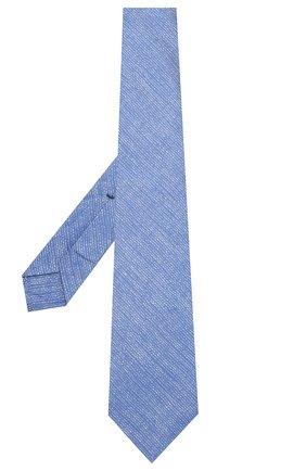 Мужской галстук из смеси шелка и льна KITON синего цвета, арт. UCRVKLC06F13 | Фото 2