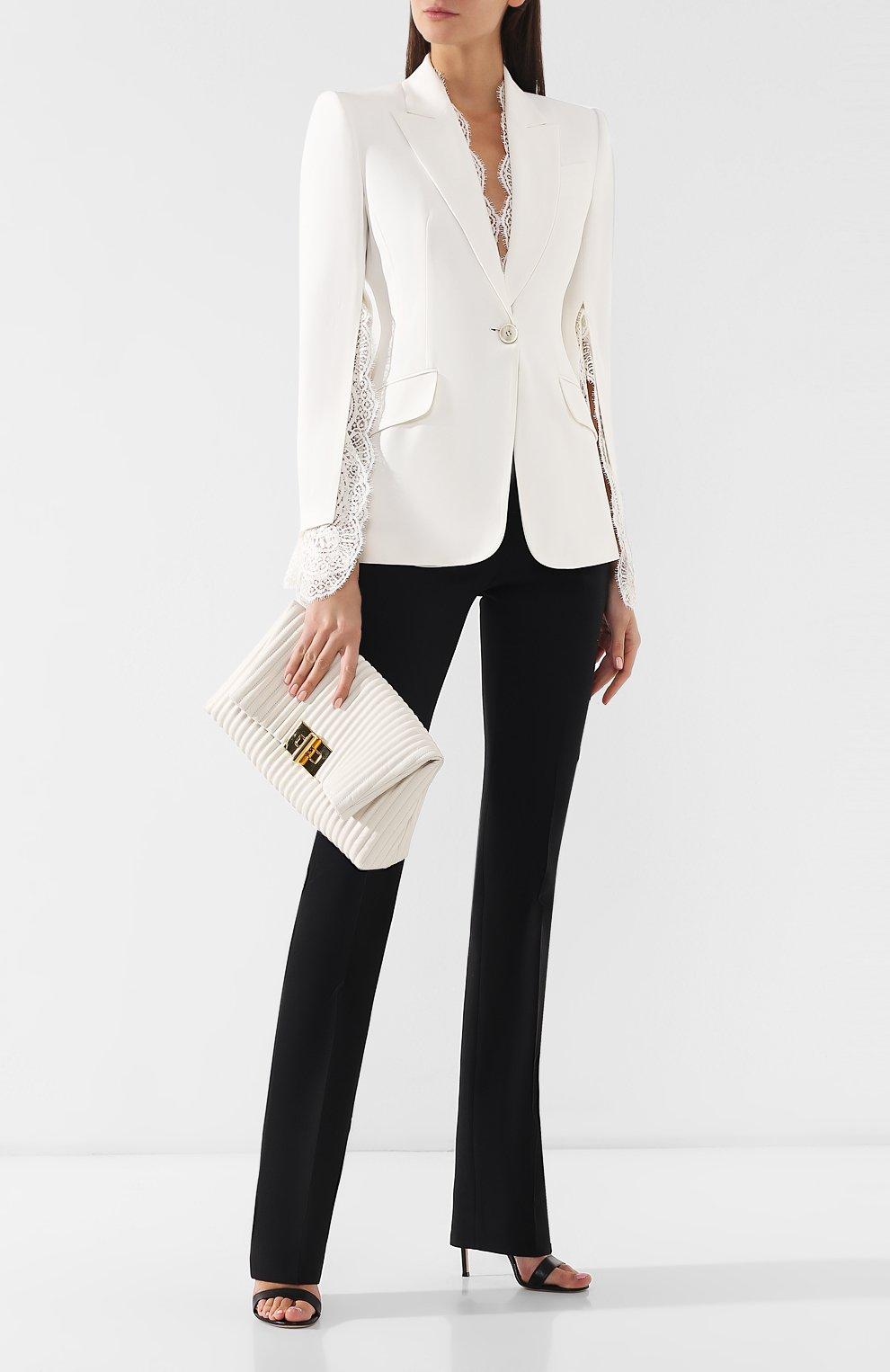 Клатч Natalia Soft Tom Ford белого цвета | Фото №2