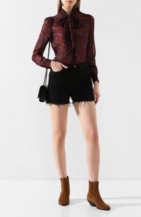 Женские замшевые ботинки west SAINT LAURENT коричневого цвета, арт. 549214/BT300 | Фото 2