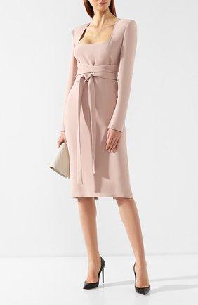 Женское платье из вискозы TOM FORD розового цвета, арт. AB2498-FAX459 | Фото 2