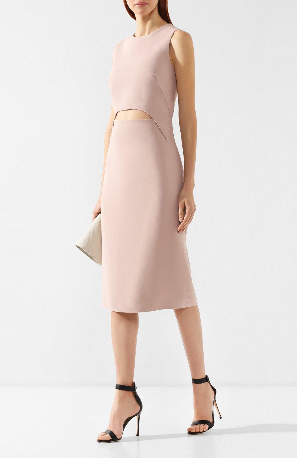 Платье из вискозы Tom Ford розовое | Фото №2