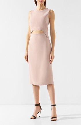 Платье из вискозы Tom Ford розовое | Фото №3