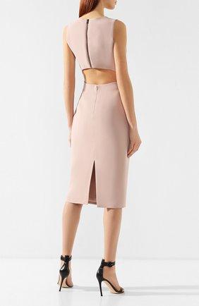 Платье из вискозы Tom Ford розовое | Фото №4