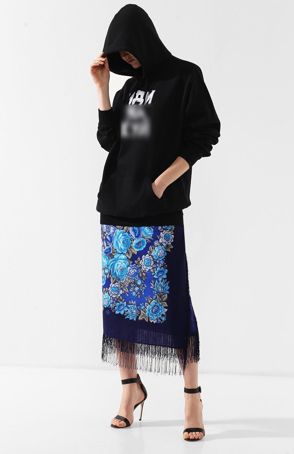 Хлопковый пуловер Vetements черный   Фото №2