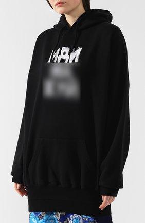 Хлопковый пуловер Vetements черный   Фото №3