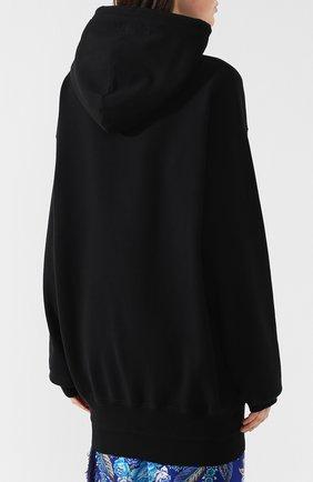 Хлопковый пуловер Vetements черный   Фото №4
