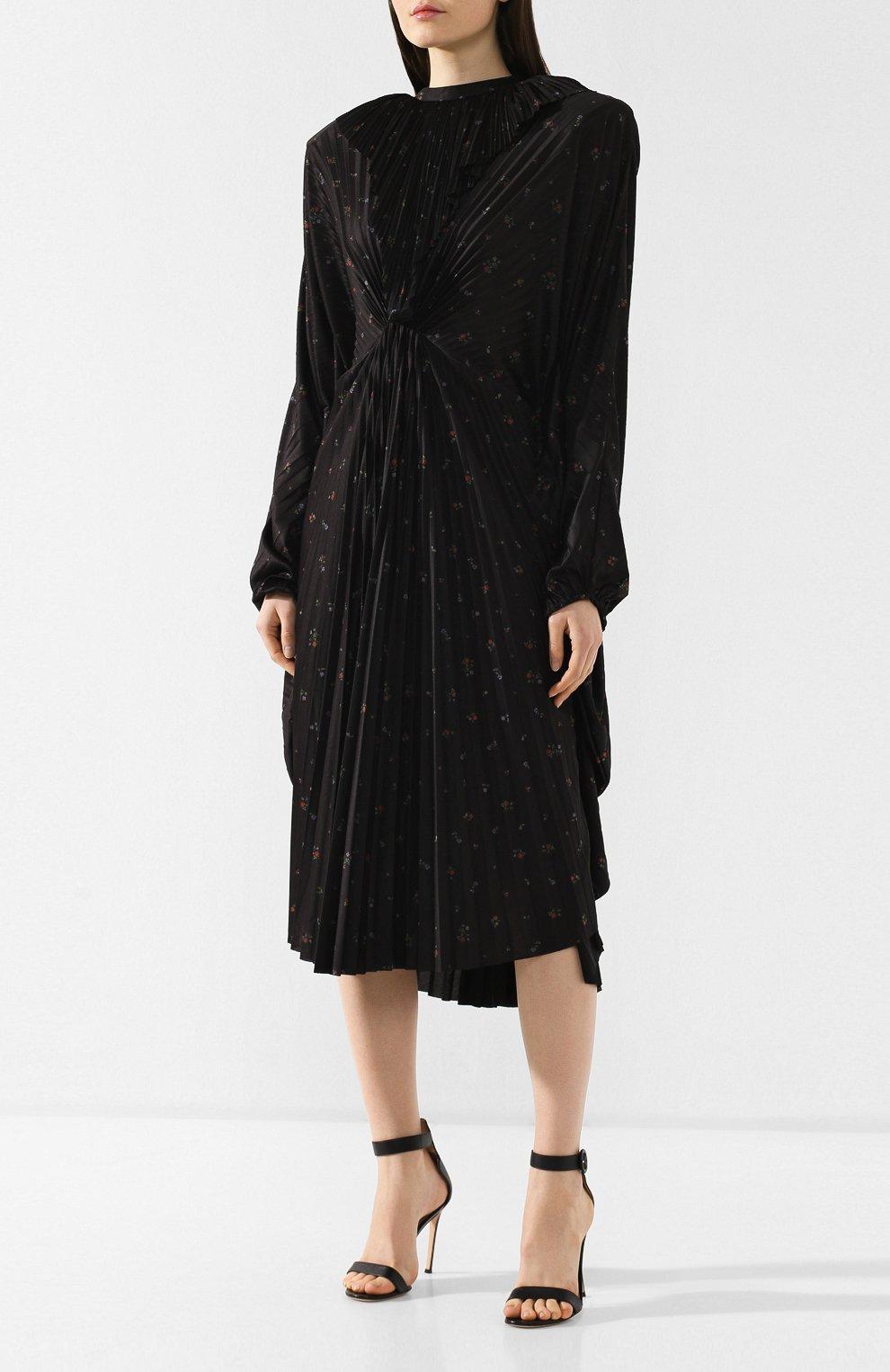 Платье-миди с принтом | Фото №3