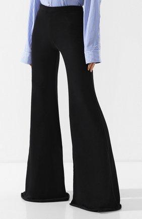 Расклешенные брюки из хлопка Vetements черные | Фото №3