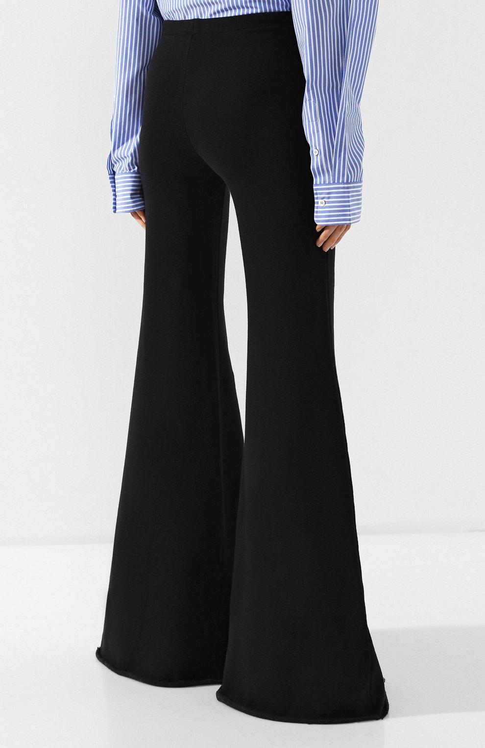 Расклешенные брюки из хлопка Vetements черные | Фото №4