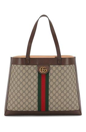 Текстильная сумка-шоппер Ophidia GG | Фото №1