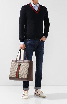 Текстильная сумка-шоппер Ophidia GG | Фото №2