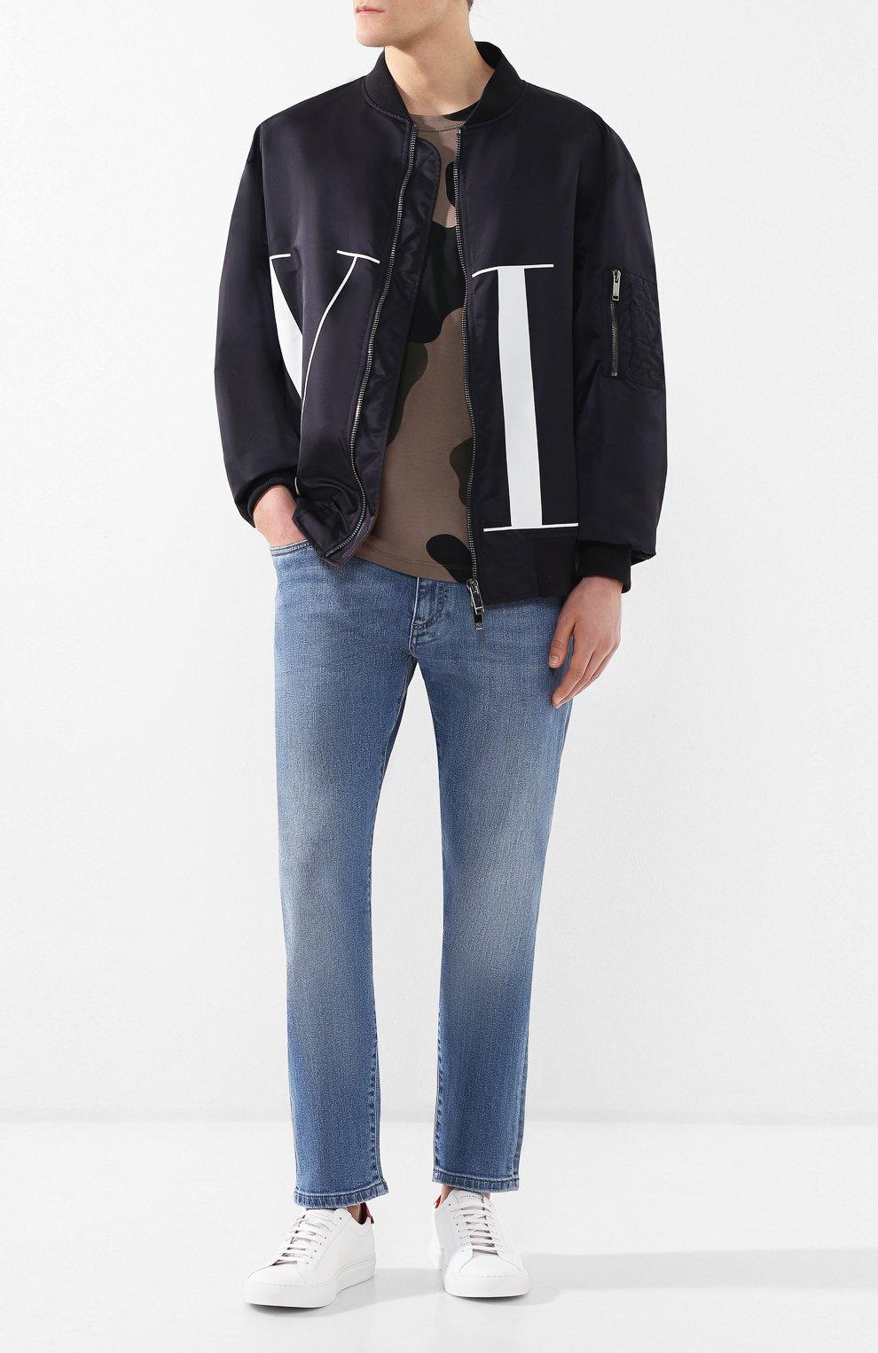 Мужские кожаные кеды  GIVENCHY белого цвета, арт. BM08219876 | Фото 2 (Статус проверки: Проверено, Проверена категория; Подошва: Массивная)