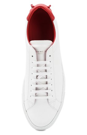Мужские кожаные кеды  GIVENCHY белого цвета, арт. BM08219876 | Фото 5 (Статус проверки: Проверено, Проверена категория; Подошва: Массивная)