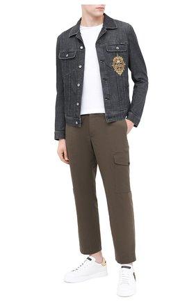 Мужские кожаные кеды portofino  DOLCE & GABBANA белого цвета, арт. CS1538/AH136 | Фото 2